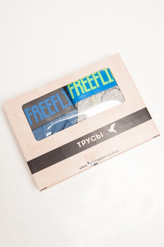 Трусы FREE FLIGHT Vol.13 (Light Grey Melange/Navy Steel, S)