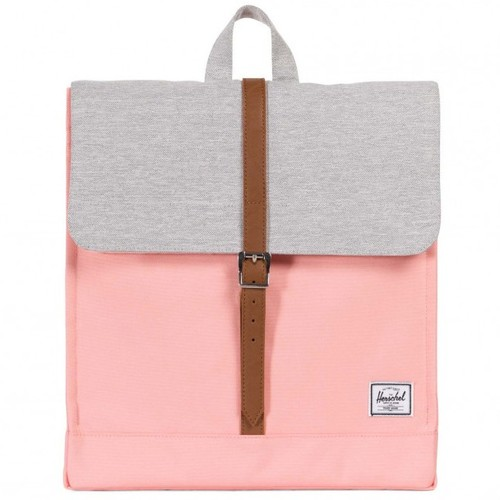Рюкзак HERSCHEL CITY MID-VOLUME (Peach/Light Grey Crosshatch/Tan Synthetic Leather) цены