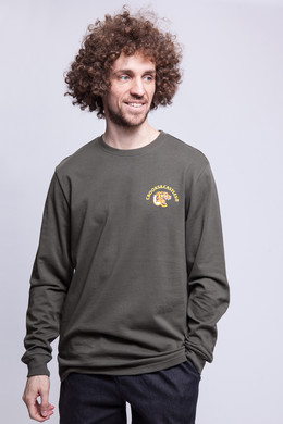 Лонгслив CROOKS & CASTLES L/S Top Rifle Green фото