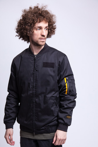 Куртка CROOKS & CASTLES Bomber Jacket (Black, 2XL)