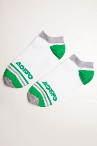 Носки ЗАПОРОЖЕЦ Добро Полосы (короткие) (Белый/Зеленый, O/S) цена