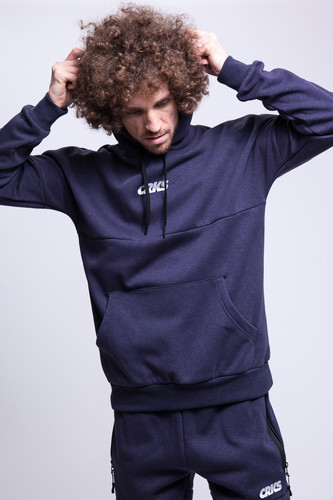 Толстовка CROOKS & CASTLES Hooded Dolman Pullover (Heather Navy, L)