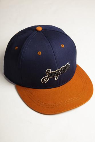 Бейсболка ЗАПОРОЖЕЦ Logo (Navy/Brown, O/S) бейсболка пятипанелька huf memphis box logo volley navy