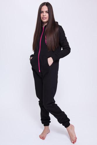Комбинезон URBAN CLASSICS Ladies Sweat Jumpsuit женский (Black/Fucsia, M) женский комбинезон s m l