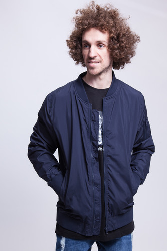 Куртка URBAN CLASSICS Light Bomber Jacket (Navy, L) куртка urban classics long bomber jacket black 2xl