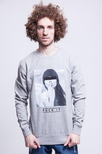 цена Толстовка MISTER TEE F#?KIT Crewneck (Grey, XL) в интернет-магазинах