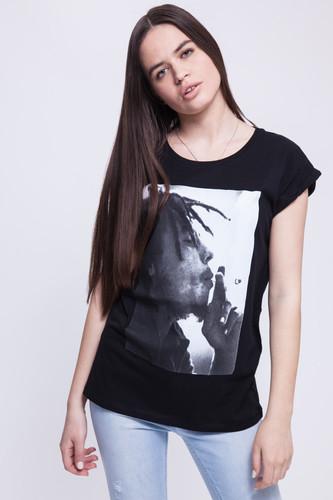 Футболка MISTER TEE Ladies Bob Marley Tee женская (Black, XL) футболка mister tee ballin tee ruby l
