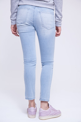 Джинсы URBAN CLASSICS Ladies High Waist Skinny Denim Pants Light Blue фото 2