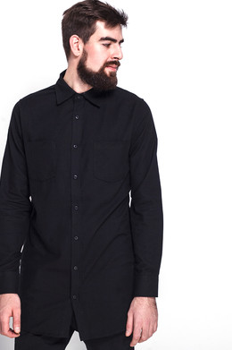 Рубашка URBAN CLASSICS Side-Zip Long Checked Flanell Shirt Black/Black фото