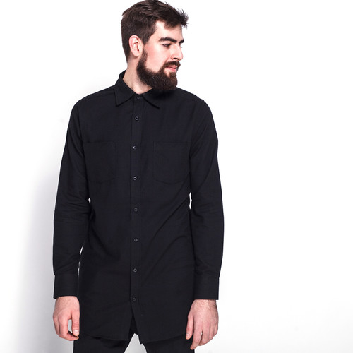 Рубашка URBAN CLASSICS Side-Zip Long Checked Flanell Shirt (Black/Black, M) стоимость