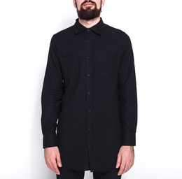 Рубашка URBAN CLASSICS Side-Zip Long Checked Flanell Shirt Black/Black фото 2