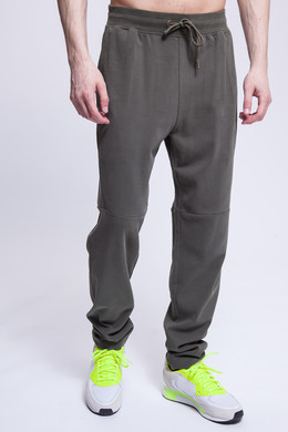 Брюки URBAN CLASSICS Tapered Interlock Sweatpants Olive фото