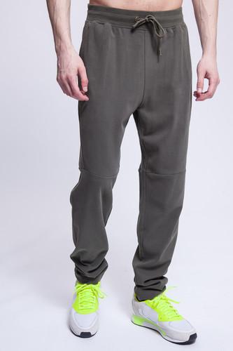 Брюки URBAN CLASSICS Tapered Interlock Sweatpants (Olive, S) брюки urban classics straight fit sweatpants white xs