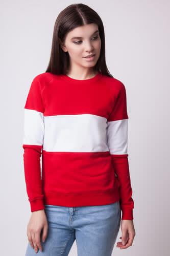 цены Толстовка SKILLS White Stripe женская (Красный/Белый, S)