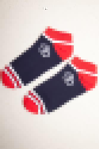 Носки ЗАПОРОЖЕЦ Полосы 1 короткие женские (Темно-Синий, O/S)