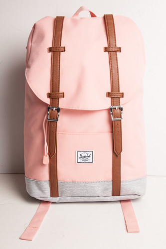 Рюкзак HERSCHEL Retreat Mid-Volume 10329 (Peach/Light Grey Crosshatch/Tan Synthetic Leather) стоимость