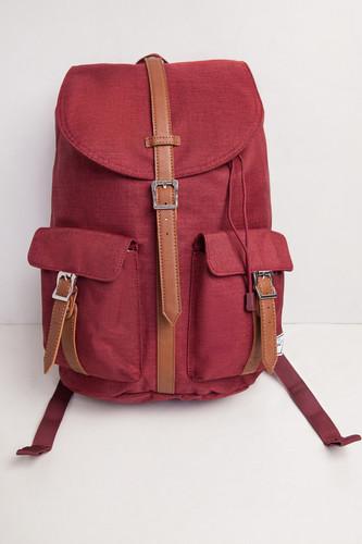 Рюкзак HERSCHEL Dawson X-Small (Winetasting Crosshatch/Tan Synthetic Leather) рюкзак herschel post mid volume navy tan synthetic leather