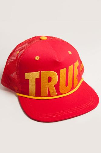 Бейсболка TRUESPIN True Trucker (Red, O/S) бейсболка truespin 3 tone blank trucker cap red yellow green o s