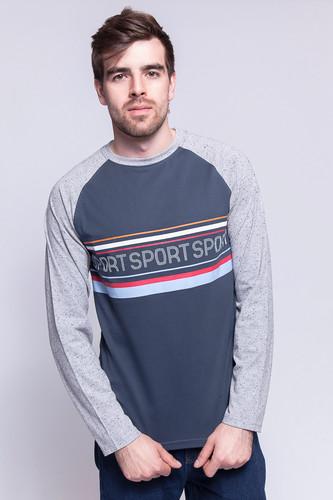 Лонгслив ЗАПОРОЖЕЦ Спорт 1 (Blue Dusk/Grey Sperkale, XS) лонгслив запорожец спорт 2 blue dusk grey sperkale xs