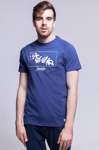 Футболка ЗАПОРОЖЕЦ Скейтборд 1 (Twlight Blue, 2XL) футболка запорожец вязальная темно синий 2xl