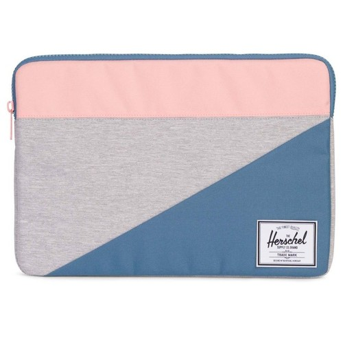 цена на Чехол для ноутбука HERSCHEL ANCHOR SLEEVE FOR MACBOOK (LIGHT GREY CROSSHATCH/AEGEAN BLUE/PEACH)