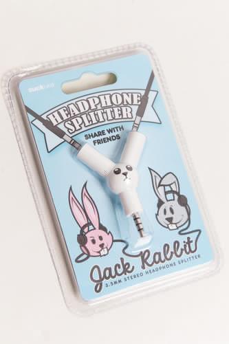 Разветвитель для наушников SUCK UK Jack Rabbit (Белый) разветвитель для наушников suck uk jack rabbit белый