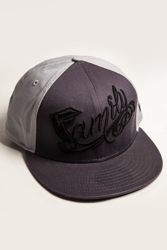Бейсболка FAMOUS Family Snapback Hat (Charcoal-Gry-Blk, O/S)