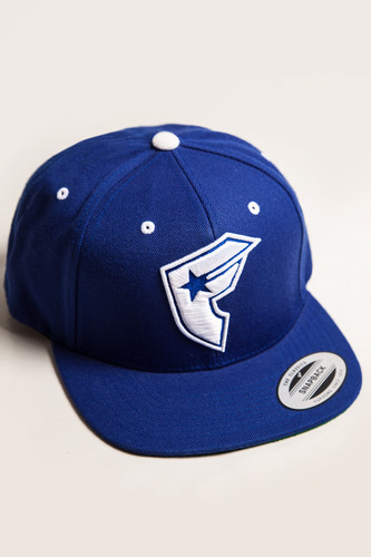 купить Бейсболка FAMOUS Official Boh Snapback (Royal-White, O/S) по цене 850 рублей