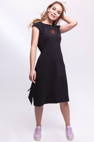Платье ONE TWO Пропасть (Черный, XS)