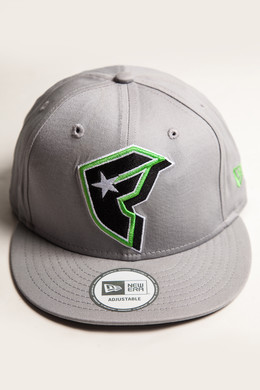 Бейсболка FAMOUS Pop Off Boh Snapback Grey-Lime-Wht фото 2