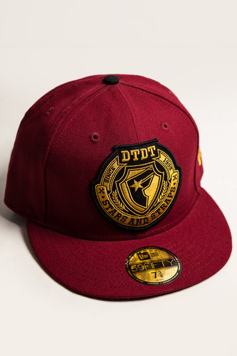 Бейсболка FAMOUS Fms Division New Era (Burgundy/Gold/White, 7 3/8)