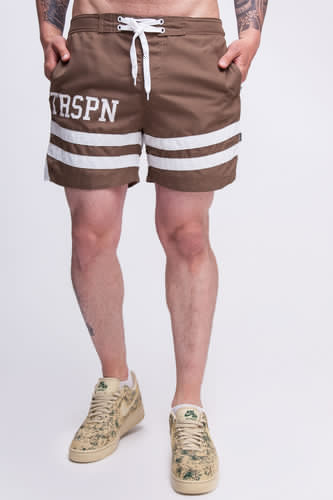 Шорты TRUESPIN Board Shorts Brown фото 7