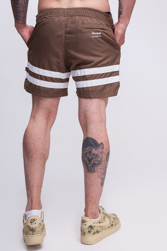 Шорты TRUESPIN Board Shorts Brown фото 11