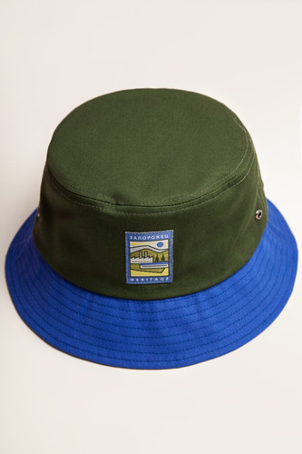 Панама ЗАПОРОЖЕЦ Fabrika Panama (Green/Blue, L/XL)