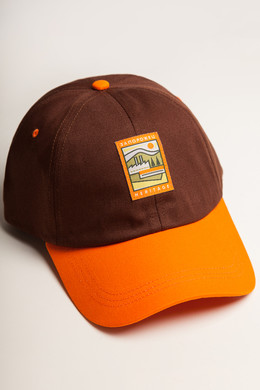 Бейсболка ЗАПОРОЖЕЦ Classic Cap Brown/Orange фото