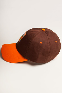 Бейсболка ЗАПОРОЖЕЦ Classic Cap Brown/Orange фото 2