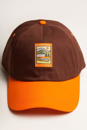 Бейсболка ЗАПОРОЖЕЦ Classic Cap Brown/Orange фото 7