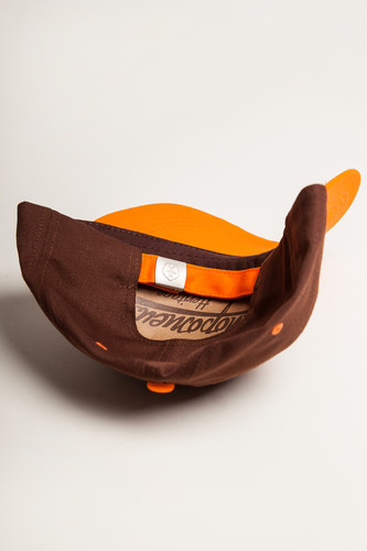 Бейсболка ЗАПОРОЖЕЦ Classic Cap Brown/Orange фото 8