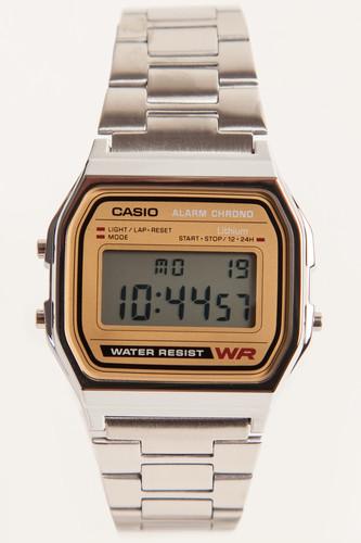 Часы CASIO A-158WEA-9E 587/593 (Хром/Золотой-9E) наручные часы casio bg 5607 9e