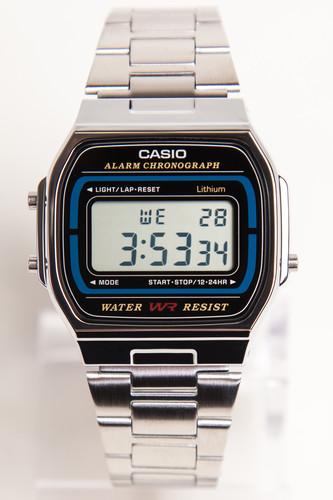Часы CASIO A-164WA-1V 593 (Хром/Черный-1V)