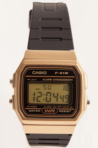 Часы CASIO F-91WM-9A 593 (Золотой/Черный)