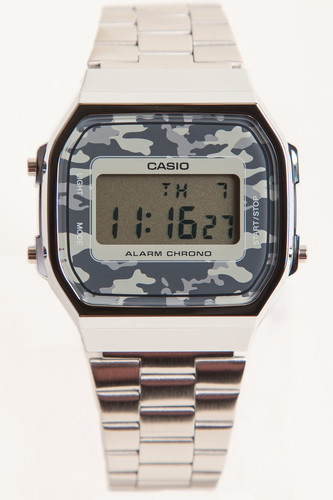 Часы CASIO A-168WEC-1E 3298 (Хром/Серый-1E) casio a 168wec 1e
