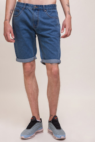 Шорты ЗАПОРОЖЕЦ Basic Denim Short Zap Regular Flex SS18 Classic Blue 42 фото 5
