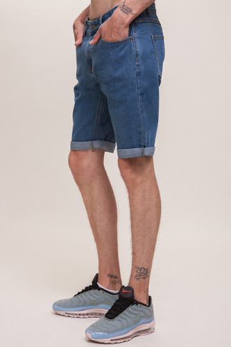 Шорты ЗАПОРОЖЕЦ Basic Denim Short Zap Regular Flex SS18 Classic Blue 42 фото 7