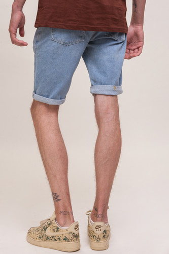 Шорты ЗАПОРОЖЕЦ Basic Denim Short Zap Regular Flex SS18 Light Blue 44 фото 6