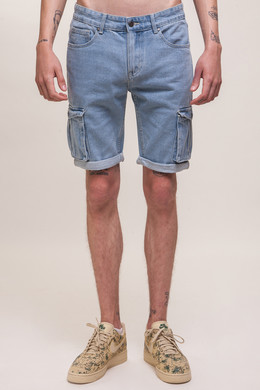 Шорты ЗАПОРОЖЕЦ Pocket Denim Short Zap Regular Flex SS18 Light Blue 44
