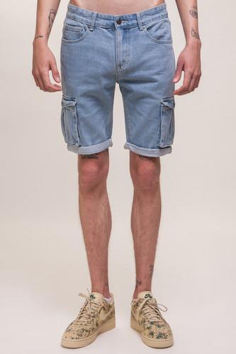 Шорты ЗАПОРОЖЕЦ Pocket Denim Short Zap Regular Flex SS18 (Light Blue, 38) джинсы запорожец carrot fit men s denim zap 01r2 mid blue 36 34