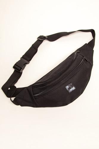 Сумка URBAN CLASSICS Double-Zip Shoulder Bag (Black/Black)