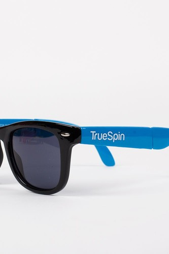 лучшая цена Очки TRUESPIN Folding Sunglasses (Black-Blue)