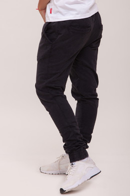 Брюки URBAN CLASSICS Ladies Acid Wash Jogging Pants Dark Grey фото 2